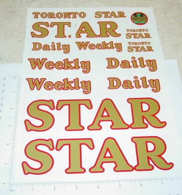 Otaco Minnitoys Toronto Star Semi Sticker Set Main Image