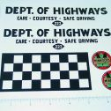 Otaco Minnitoys Dept. of Highways Truck Stickers Main Image