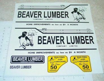 Otaco Minnitoys Beaver Lumber Truck Sticker Set Main Image