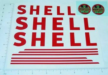 Otaco Minnitoys Shell Tanker Truck Stickers Main Image
