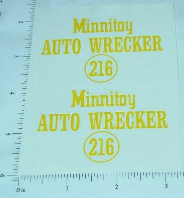 Otaco Minnitoys #216 Tow Truck Stickers Main Image
