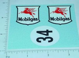 Tin Friction Mobilgas Racer Replacement Stickers
