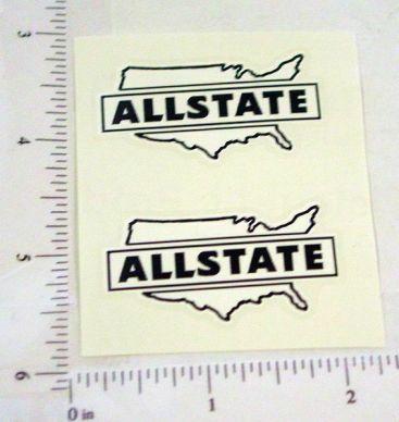 Pair Marx Allstate Trucks Logo Door Stickers Main Image