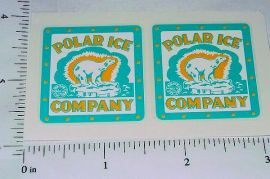 Marx Polar Ice Delivery Truck Sticker Set