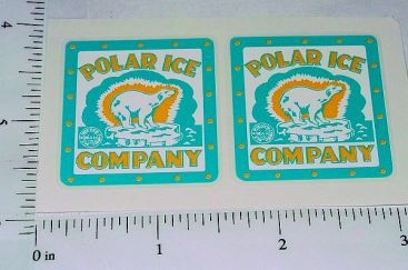 Marx Polar Ice Delivery Truck Sticker Set Main Image