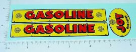 Marx Joy Gasoline Tanker Truck Sticker Set