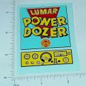 Marx Lumar Power Dozer Vehicle Sticker Set Main Image