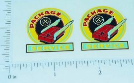 Marx Package Delivery Pickup Truck Sticker Set