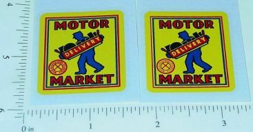 Marx Motor Market Delivery Truck Stickers Main Image