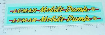 Marx Lumar Mobile Dump Truck Sticker Set Main Image