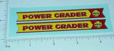 Marx Lumar Power Grader Replacement Sticker Set Main Image