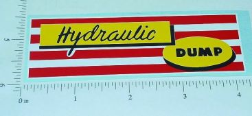 Marx Hydraulic Dump Truck Replacement Stickers Main Image