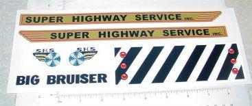 Marx Big Bruiser Wrecker Tow Truck Sticker Set Main Image