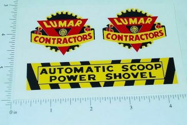 Marx Lumar Contractors Scoop Shovel Sticker Set Main Image