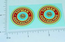 "Marx Lumar Contractors 1.25"" Round Stickers"
