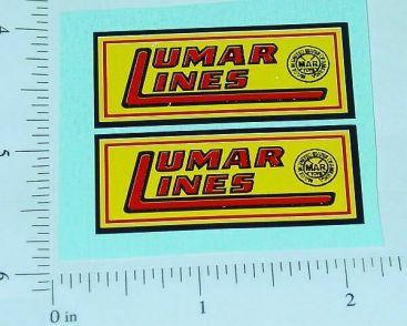 "Marx Lumar Lines 2"" Logo Stickers Main Image"