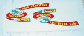Marx Nationwide Auto Transport Truck Stickers