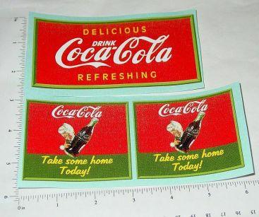 Marx Coca Cola Delivery Truck Sticker Set Main Image