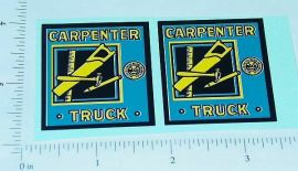 Marx Carpenter Stake Truck Replacement Stickers