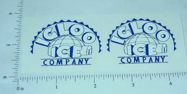 Marx/Wyandotte Igloo Ice Truck Sticker Set Main Image