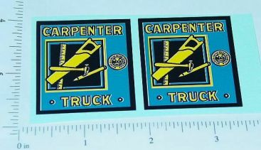 Marx Carpenter Stake Truck Replacement Stickers Main Image