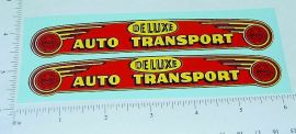 Marx Deluxe Auto Transport Red/Yellow Stickers