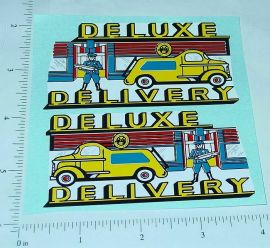 Marx Deluxe Delivery Ride On Truck Sticker Set