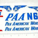 Marx Pan Am Airplane Sticker Set Main Image