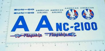 Marx American Flagship Airplane Sticker Set Main Image