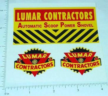 Marx Lumar Automatic Scoop Shovel Sticker Set Main Image