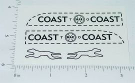 Marx Small Coast to Coast Bank Truck Sticker Set