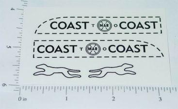 Marx Small Coast to Coast Bank Truck Sticker Set Main Image