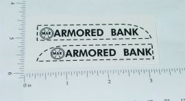Marx Armored Car Bank Truck Sticker Set