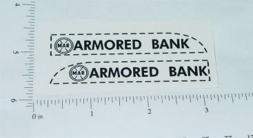 Marx Armored Car Bank Truck Sticker Set Main Image