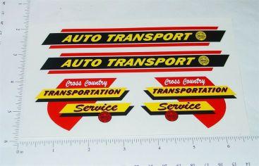 Marx Auto Transport Trailer Truck Sticker Set Main Image