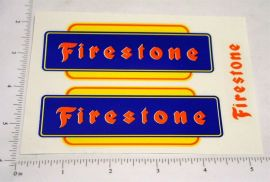 Marx Firestone Pickup Truck Replacement Stickers