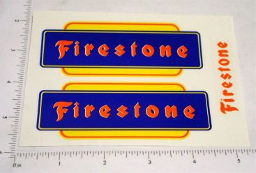 Marx Firestone Pickup Truck Replacement Stickers Main Image