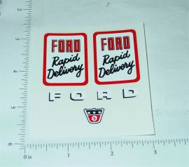 Nylint Cabover Ford Rapid Delivery Stickers