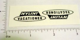 Nylint Vacationer Camper Stickers