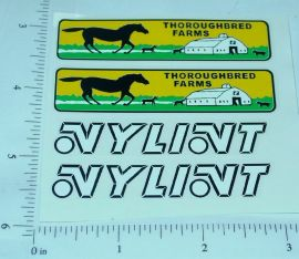 Nylint Ford Econoline Stables Truck Stickers