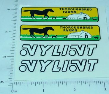 Nylint Ford Econoline Stables Truck Sticker Pair Main Image
