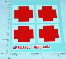 Nylint Ford Army Ambulance Van Stickers