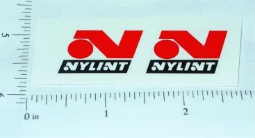 Nylint Red/Black Late 60's Logo Stickers        NY-019R Main Image