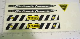 Nylint Electric Cannon Vehicle Sticker Set