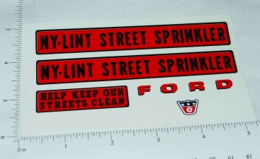 Nylint Cab Over Ford Sprinkler Truck Stickers Main Image