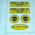Nylint Power & Light Lineman Truck Stickers Main Image