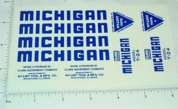 Nylint Michigan Crane Replacement Stickers Main Image