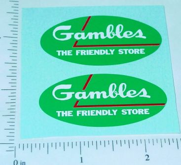 Nylint Ford Econoline Gambles Pickup Stickers Main Image