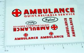 Nylint Ford Econoline Van Ambulance Stickers