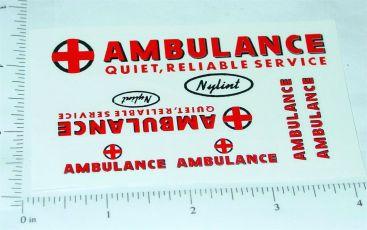 Nylint Ford Econoline Van Ambulance Stickers Main Image